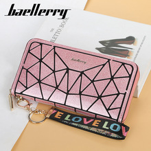 Baellerry Top Quality Leather Women Wallets Korean Phone Wallet Clutch Leather Card Holder Geometry Wallet Designer Purse
