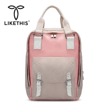 LIKETHIS Female Backpack Women Waterproof Nylon High Quality Ladies Multi-pocket Luxury Capacity Student Bags 2019