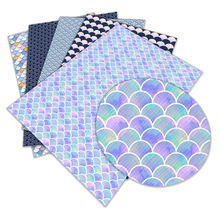 Fish-Scales Faux-Leather L297 Diy-Accessories 22x30cm Pattern-Printed New A4 for Patchwork