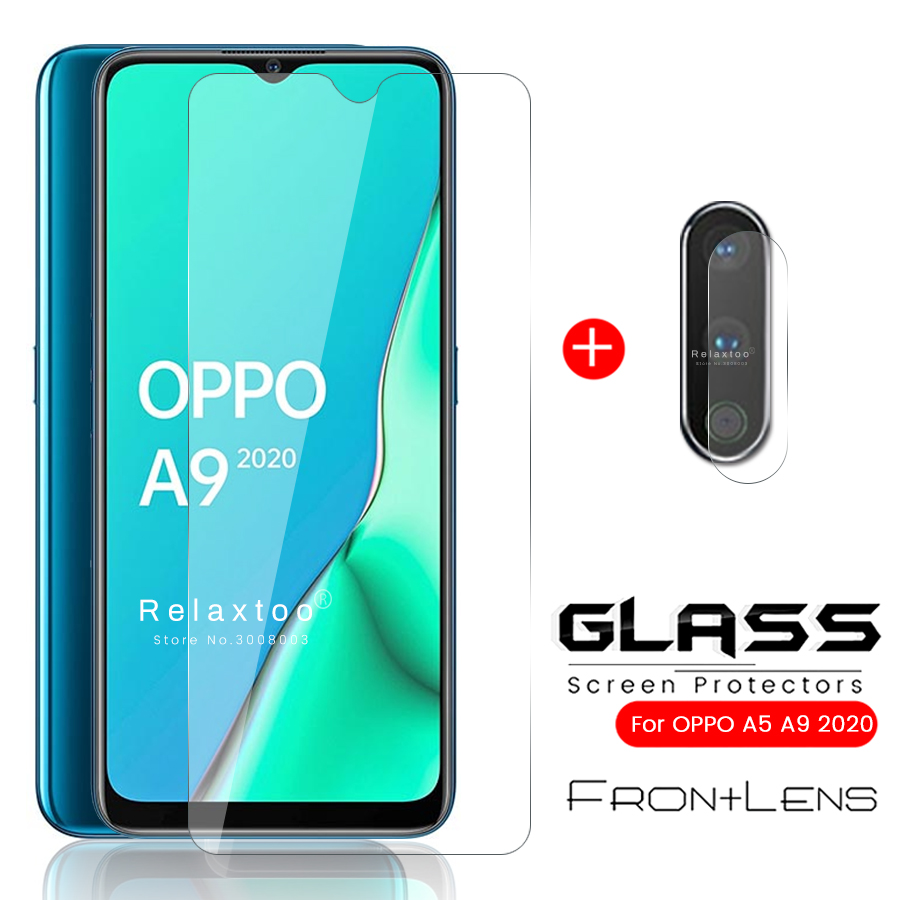 2-in-1 Camera Protector For Oppo A9 2020 Opo A5 2020 Glass Protective Glass For Oppo A 9 5 5a 9a 2020 Armored Sheet Film 6.5''