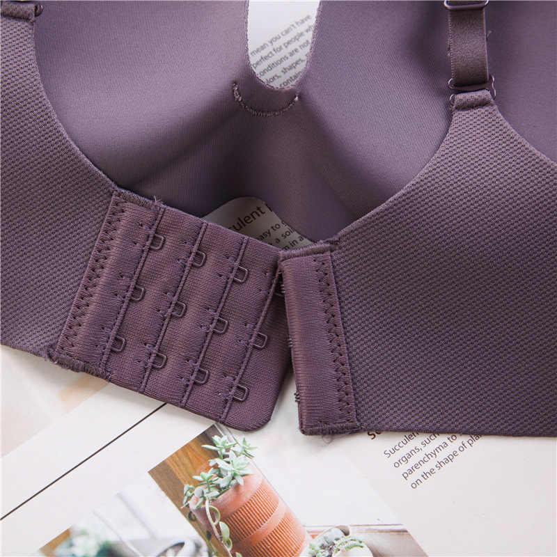 Wanita Seksi Bra Seamless Pakaian Dalam Wanita Lembut Bra Fashion Tidur Bra Push Up Pakaian Nirkabel Wanita Intimate # F