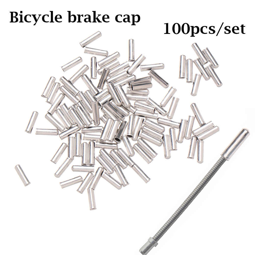 100Pcs Bicycle Shifter Brake Gear Inner Cable Tips Ends Caps Crimps Ferrules