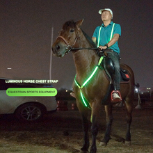 Webbing-Lights Riding-Equipment Chest-Belt Horse-Harness Safe-Horse Adjustable LED Nylon