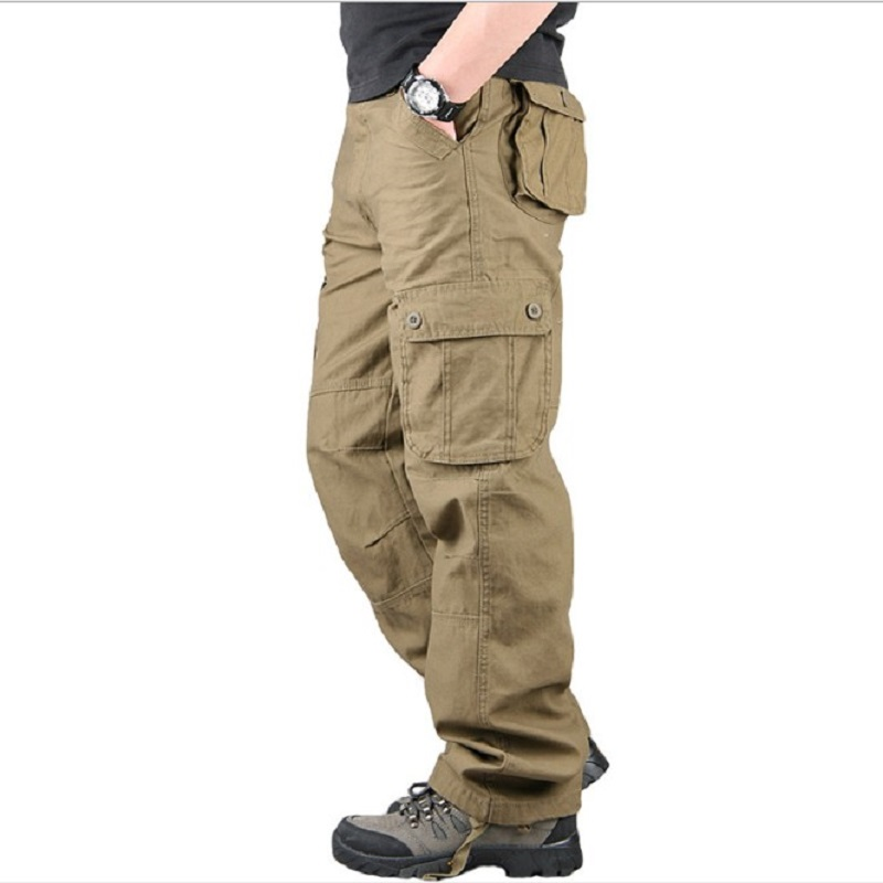 Men's Cargo Pants Casual Multi Pockets Military Tactical Pants Men Outerwear Army Straight Slacks Long Trousers Men Clothes