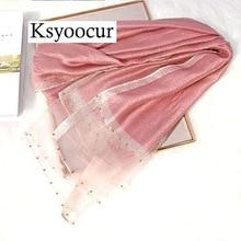 Rozmiar 180*90cm 2020 nowe szale jedwabne ręcznik plażowy szalik kobiet cztery pory roku szale i szaliki kobiety szalik marki Ksyoocur E11