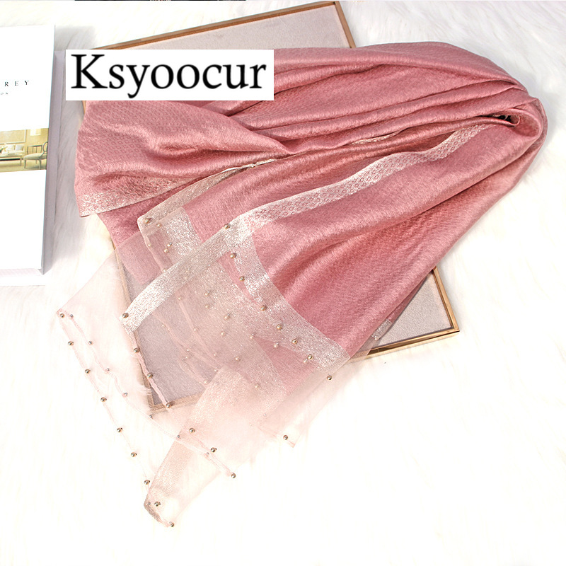 Size 180*90cm 2020 New Silk Scarves Beach Towel Scarf Female Four Seasons Shawls And Scarves Women Scarf Brand Ksyoocur E11
