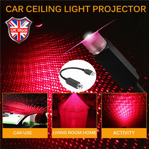 Universal Mini LED Car Roof Star Night Ambient Lights Projector Light Interior Ambient Atmosphere Galaxy Lamp Decoration Light