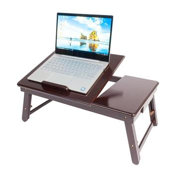 Wooden Computer Desktop Laptop Stand Adjustable Laptop Table Bed Mouse Stand For Macbook