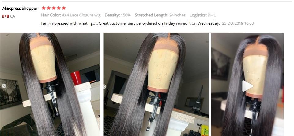 H646ab2d66df04ed08358f62d6866b3357 Karizma 4x4 Lace Closure Human Hair Wigs Remy Closure Lace Wigs Brazilian Hair Wigs Straight Lace Closure Wigs With Baby Hair