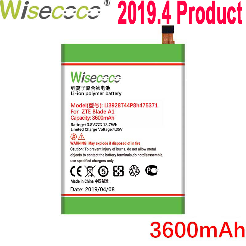 Wisecoco 3600mAh Li3928T44p8h475371 Battery For <font><b>ZTE</b></font> Blade A1 AXON Mini B2015 C880 C880A <font><b>C880S</b></font> Xiaoxian 3 Phone+Tracking Number image