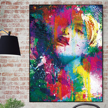 Canvas art Wall picture Modern Posters and Prints Portrait Painting Printing Abstract print