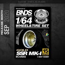 BNDS 1:64 металлические колеса, резиновая шина от MK-1 SSR, горячая сборка, обод, модифицированные детали на заказ, модель автомобиля JDM, 4 шт., набор и...