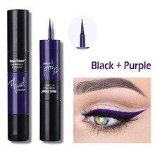 Eyeliner Waterproof 2 in 1 Easy Finger Tip Eyeliner Pencil Makeup Eye Liner Long-Lasting Makeup Cosmetic beauty подводкафломастер proline felt tip eyeliner 3 мл wetnwild глаза