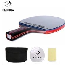 Racket Sponge Rubber Table-Tennis Ping-Pong-Bat Carbon-Fiber Lemuria Professional Double-Face