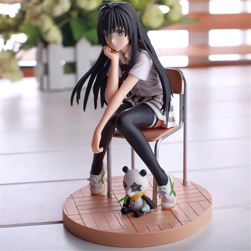 My Teen Romantic Comedy SNAFU Yukinoshita Yukino Chair Anime Action Figures Girl Toys Model PVC Figurines Collectible Brinquedos image