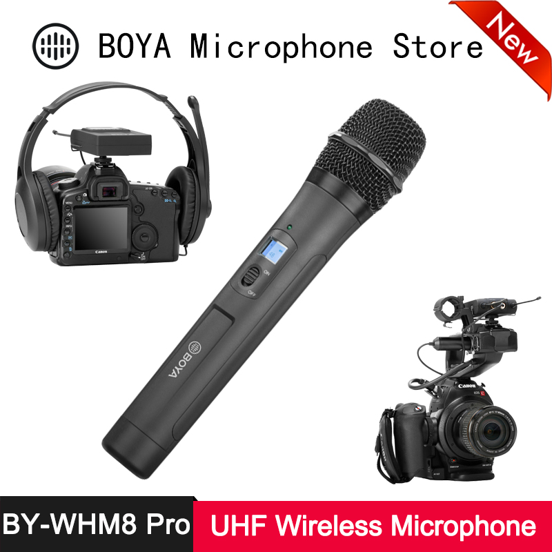 BOYA BY-WHM8 Pro Handheld Microphone UHF Wireless Unidirectional Dynamic Mic Transmitter For Stage Film ENG BY-WM8 Pro Receiver