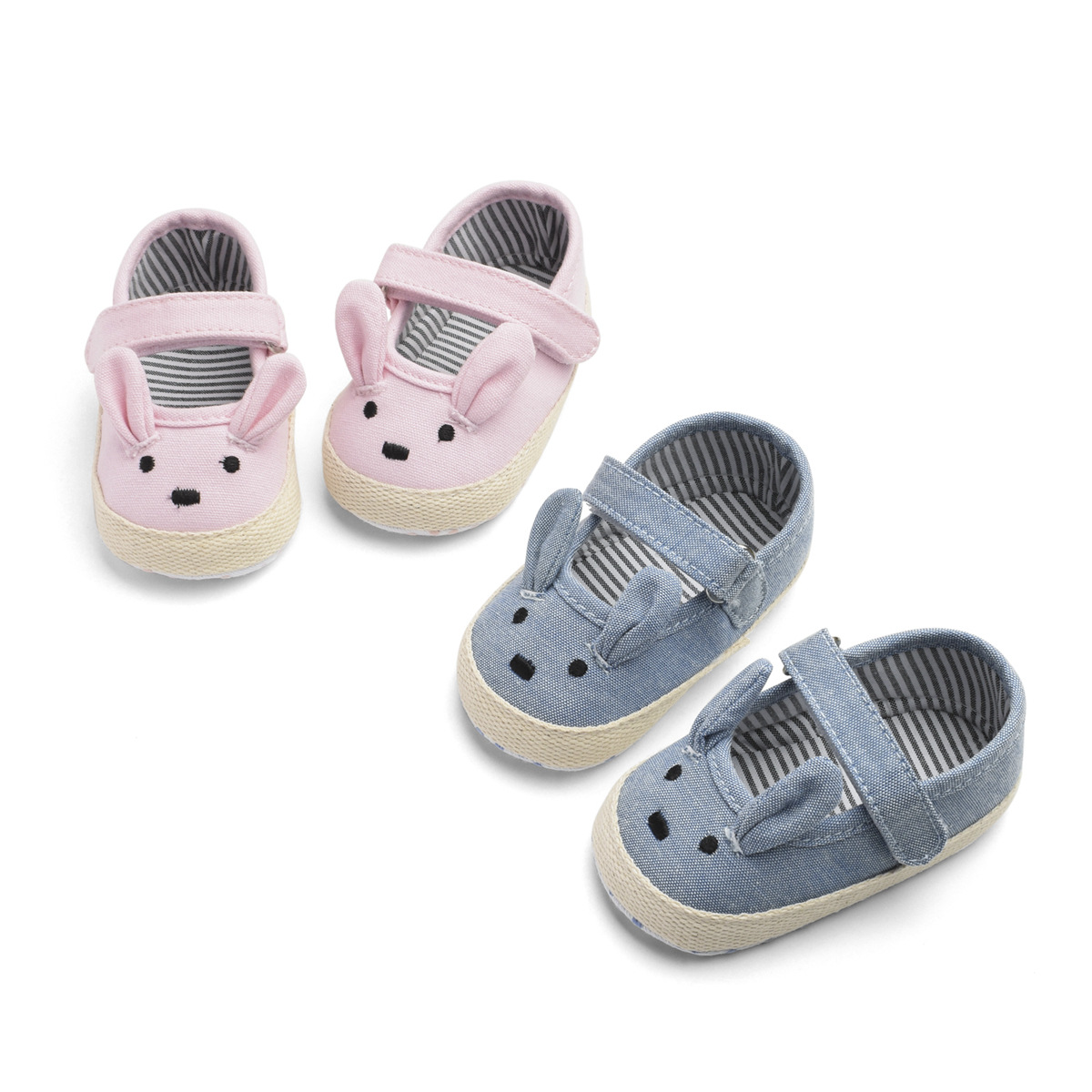 2019 Spring And Autumn Cute Bunny Female Toddler Toddler Shoes 0-1 Year Old Baby Soft Bottom Toddler Shoes Breathable