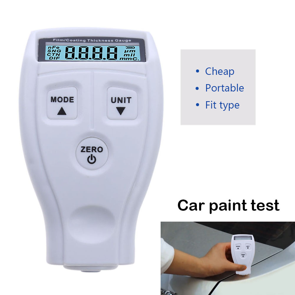 GM200 Digital Coating Film Paint Measurement Instruments Thickness Gauges Tester Non-magnetic Car Surface Thickness Gauge