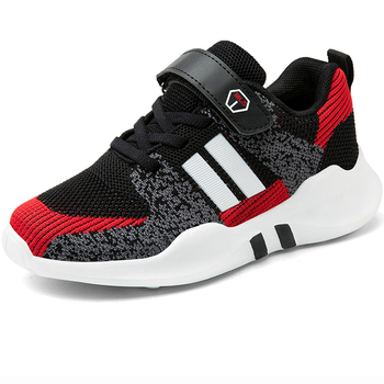Boys Running Shoes Trend Soft Sole Non-slip Breathable Kids Sneakers Children Sport Shoes Outdoor Boy Footwear Girls Shoes Red children sport shoes casual fashion boys girls net cloth breathable shoes kids sneakers student outdoor running shoes red black