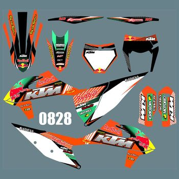 for KTM SX SXF 2019 New Full Graphics Decals Stickers Custom Number Name Glossy Bright Stickers Waterproof