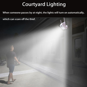 Image 2 - 1080P Waterproof Wall Lamp IP Camera IR HumanBody Induction Videcam Motion Detection Smart Induction Lamp Outdoor Camera V380