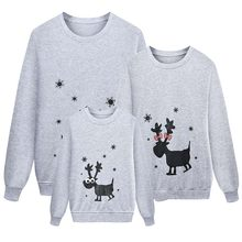 Family Christmas Sweatshirt Elk Tops Xmas Warm Long Sleeve Pullover Christmas Kids Adult Xmas Sweatshirt Family Matching Clothes(China)