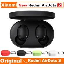 Novo original xiaomi redmi airdots 2 tws redução de ruído bluetooth fone de ouvido estéreo baixo 5.0 com microfone handsfree fones controle ai