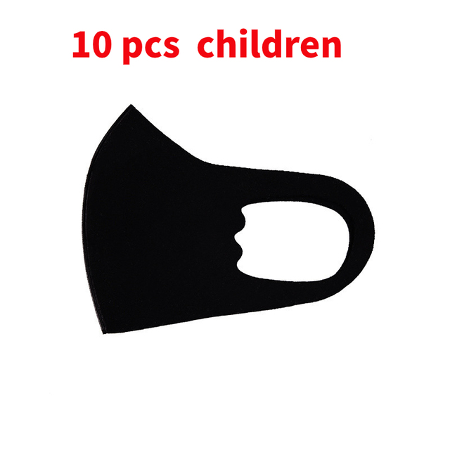 10pcs Mouth Mask Reusable Washable face shield Masque Face Mask Cloth Anti Dust Anti Saliva Safty Virus Protective For Children 3