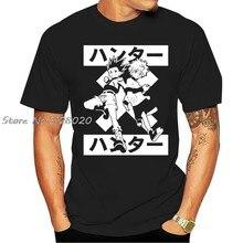 Killua zoldyck gon freecss hunter x hunter t camisa tamanhos adultos anime manga o-pescoço moda casual de alta qualidade impressão camiseta