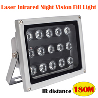 Iluminadores de distancia IR de 180M, Láser LED de luz Lámpara de infrarrojos, conjunto de 15 Uds. Led IP65, luz de relleno de visión nocturna impermeable para cámara CCTV