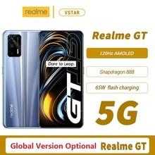 Global Version Optional Realme GT 5G SmartPhone 6.43 120Hz Super AMOLED Snapdragon 888 Octa Core 65W Smart Flash Charge WiFi 6