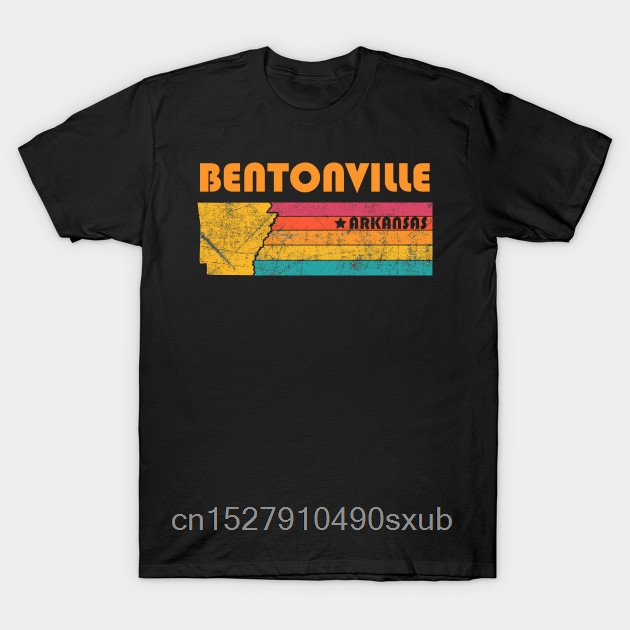 Cotton fashion 2020 trend T-shirt Bentonville <font><b>Arkansas</b></font> Vintage Distressed Souvenir quality fashion short sleeve men tshirt image
