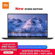 Xiaomi RedmiBook 16 Laptop AMD Ryzen 4700U/4500U 16.1 Inch Full Screen 100% sRGB 8GB/16GB DDR4 512GB SSD Notebook Computer