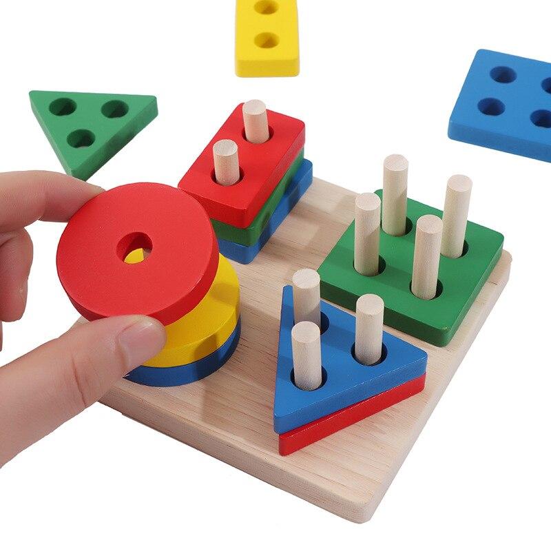 Детская развивающая математическая игрушка Монтессори, деревянные мини-круги, шариковый лабиринт, американские горки, пазл, игрушки для детей, подарок для мальчиков и девочек 6