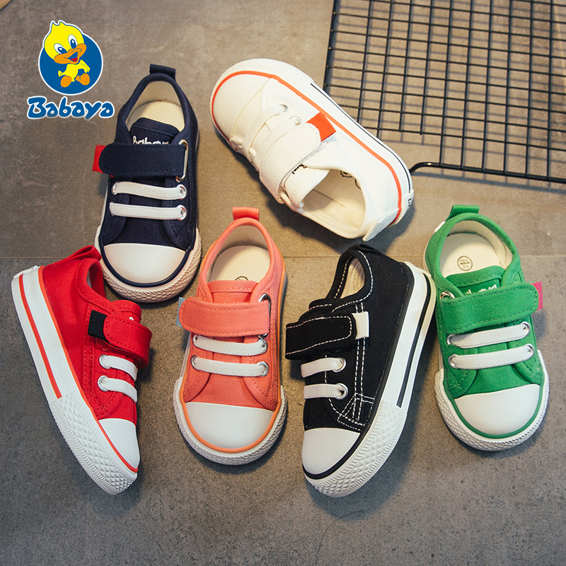 Baby Shoes  Spring Children Canvas Shoes Breathable Kids Casual Sneakers For Girls Boys Flat Child Single Shoes Size 18-30