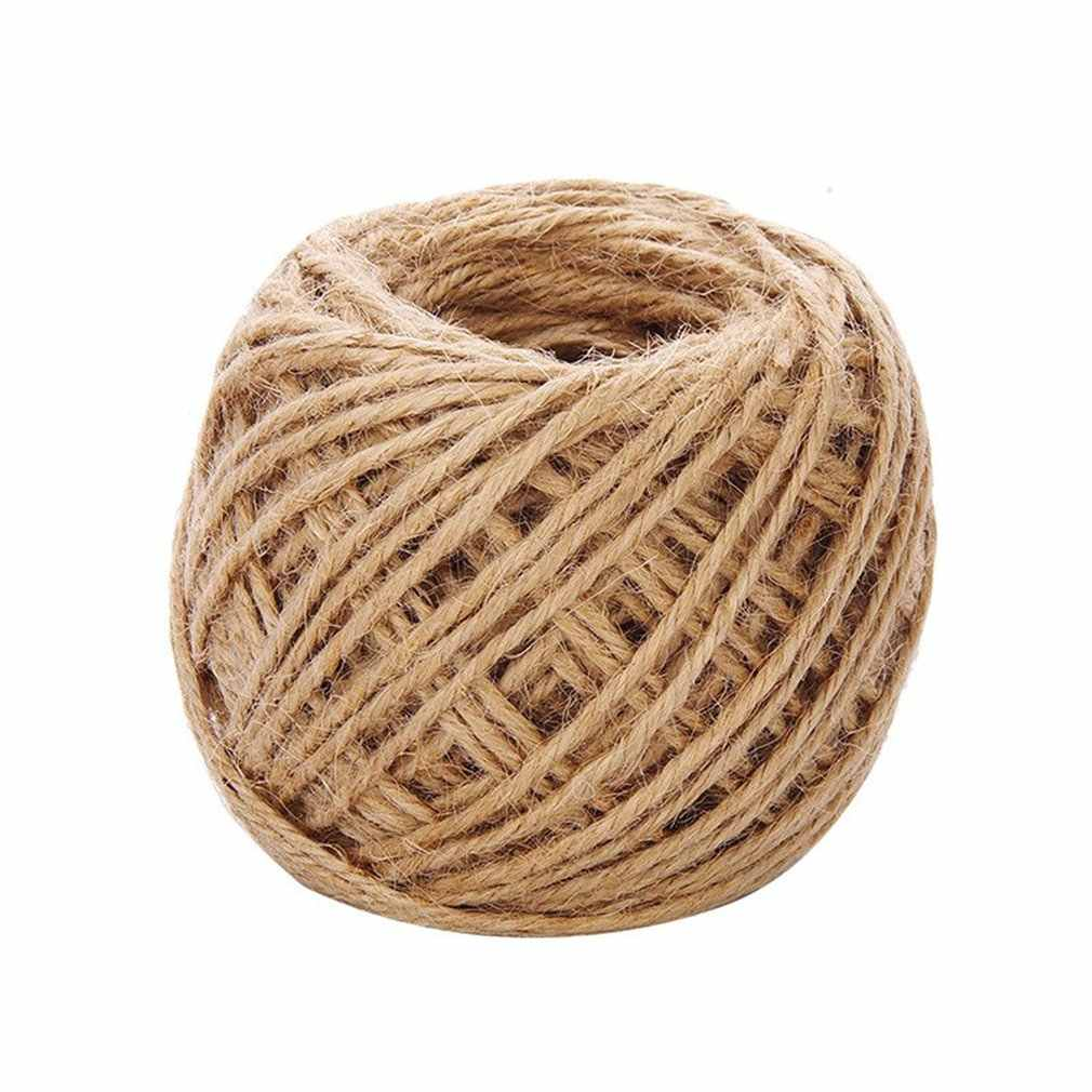 40m Natural Burlap Hessian Jute Twine Cord Hemp Rope Party Wedding Gift Wrapping Cords Thread DIY Scrapbooking Craft Decor