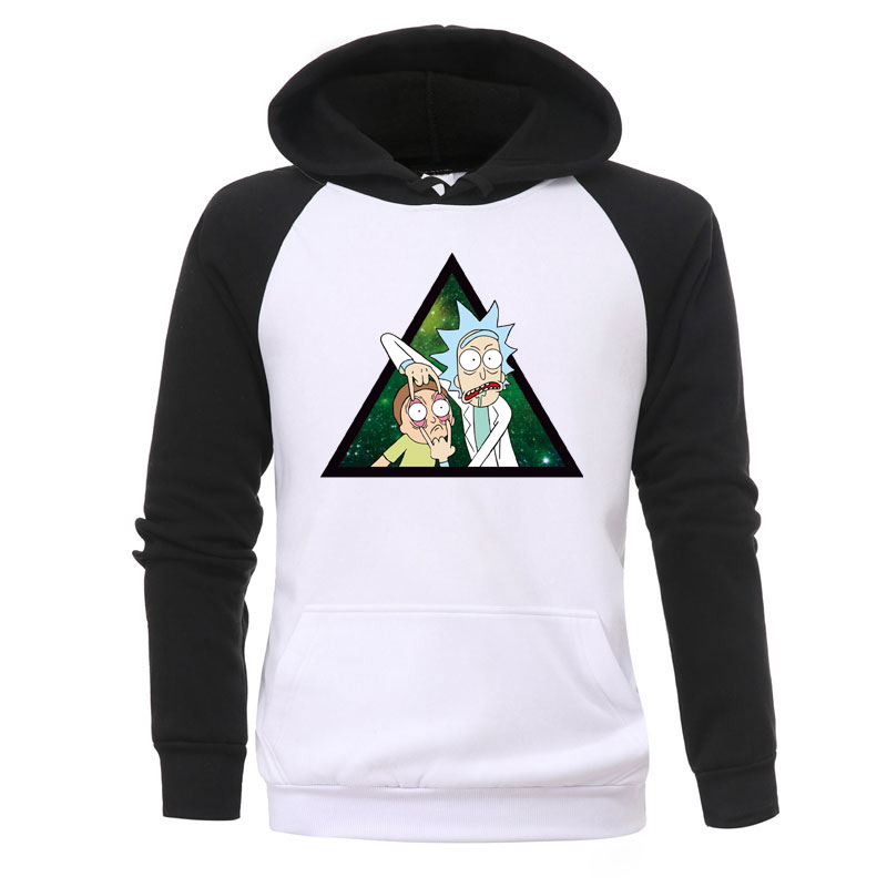 Rick And Morty Print Hoodies Mens New Fashion Jackets Anime Harajuku Hoody Casual Autumn Warmer Hooded Fashion Fitness Tracksuit