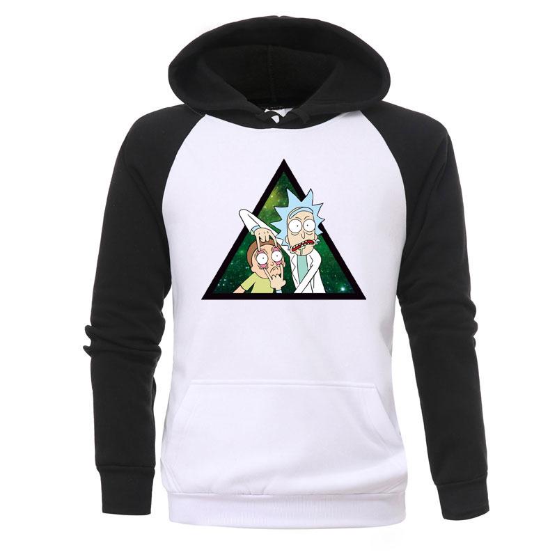 Rick And Morty Print Hoodies Mens New Fashion Jackets Anime Harajuku Hoody Casual Autumn Warmer Hooded Fashion Fitness Tracksuit