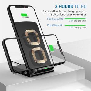 Image 4 - Fdgao carregador sem fio qi para iphone, carregador rápido 15w para iphone 11, pro, xs max, xr, x, 8, 10w suporte de carregamento para samsung s10 s20 note 9 10