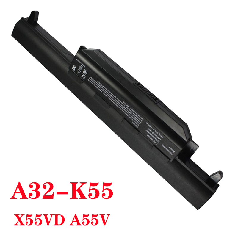 New Laptop Battery FOR Asus X75A X75V X75VD X45VD X45V X45U X45C X45A U57VM U57A X55U X55C X55A A32-K55 X55V X55VD