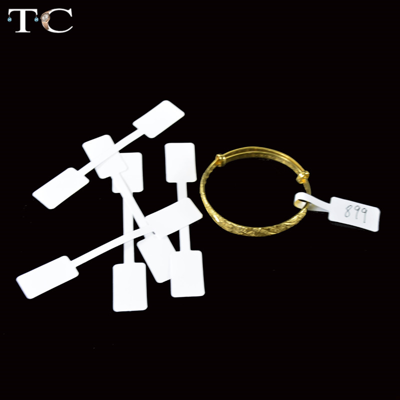 Free Shipping Wholesale 100pcs Ring Jewelry Self-Sticky Retail Dombbell Price Label Display Tags Sticker