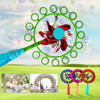 Toys For Kids Outdoor Toys 2-in-1 Bubble stick windmill Magic Portable Bubble stickChildren Bubble Wan 20ml Juguetes Para Ninos