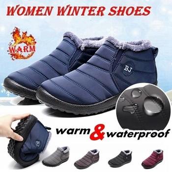 Para zimowe ciepłe botki męskie duże buty śniegowe męskie obuwie ochronne męskie buty do pracy zimą buty tenisowe Masculino35-45 tanie i dobre opinie NoEnName_Null BUTY NA ŚNIEG CN (pochodzenie) SYNTETYCZNE ANKLE Stałe Pluszowe Krótki plusz okrągły nosek Zima Niska (1 cm-3 cm)
