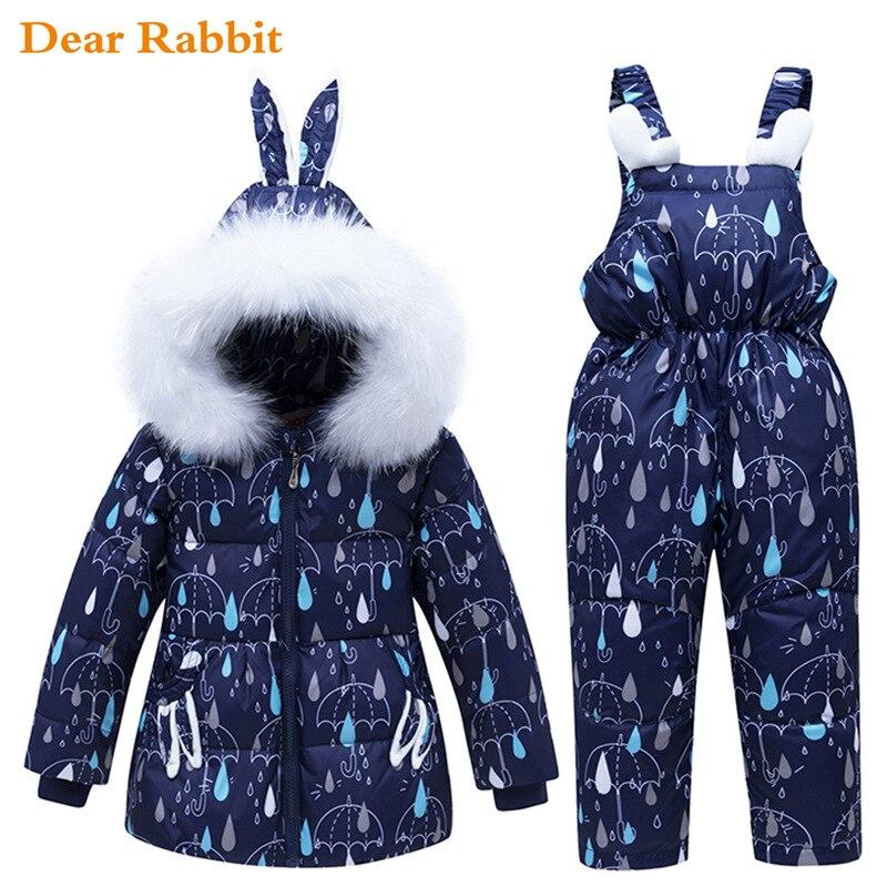 Комплект одежды для детей, зимняя теплая одежда для маленьких мальчиков, Детские лыжные костюмы, комбинезоны, пуховики для девочек, верхняя одежда, пальто + комбинезон
