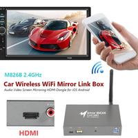 Car Wireless WiFi Mirror Link Box Screen Mirroring HDMI Dongle for iOS Android Classic Colors and Simple Durable Design