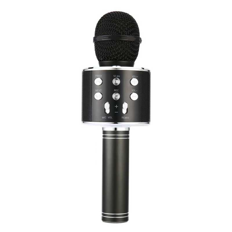 Portable Wireless Microphone Bluetooth Karaoke Home Mic Stereo Speaker Player USB Studio KTV Music Online
