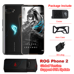 Global Version Asus ROG Phone 2 Game Phone 6.59 8GB RAM 128GB ROM Snapdragon 855+ ROG Phone II ZS660KL 6000mAh Android 9 phone
