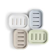 Экологичный пластиковый встроенный дизайн коробка для хранения мыла Высокое качество Прочный мыльница легко моется легко мыльница с желобками для слива воды