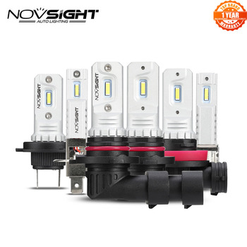NOVSIGHT 2000Lm H11 H7 LED Car Lights LED Bulbs H1 H3 9005 9006 Daytime Running Lights DRL Fog Light 6000K Driving Lamp цена 2017