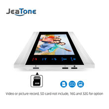JeaTone 7 inch Indoor Monitor Video Door Phone Doorbell Intercom System Video Recording Photo Taking Silver Wall Mounting